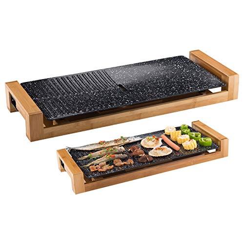 Yyo grill elettrico barbecue elettrico multifunzionale del barbecue di pesce del piatto della griglia della famiglia 1800w 22cm * 60cm * 7cm,medicalstone