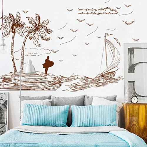 sommer insel wandaufkleber wohnkultur wohnzimmer schlafzimmer küche babyzimmer wandtattoos poster diy tapete -