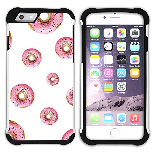 Graphic4You Gesüßt Krapfen Doughnut Hart + Weiche Kratzfeste Hülle Case Schale Tasche Schutzhülle für Apple iPhone 6 / 6S Design #16