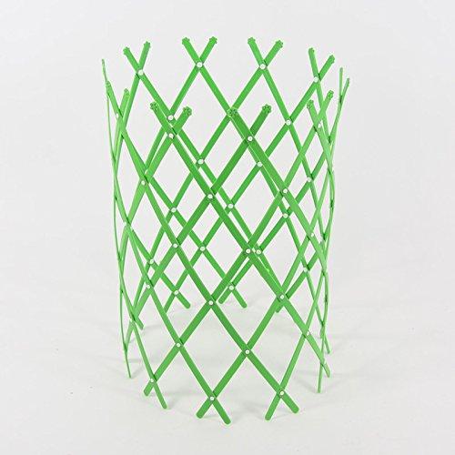 Ausziehbare Rankhilfe Rankgitter Gitter Baumstamm Schutz Staudenhalter Rankgitter (Grün) (Garten Pflanzen Zaun)