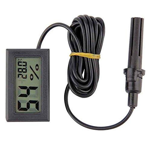 Digital Thermometer Hygrometer Temperatur Meter Sonde Feuchtesensor (Schwarz)