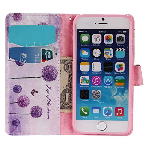 Coque Cuir Apple iPhone 6 (4.7 pouces), Fermeture Aimantée de Motif Imprimé Étui Housse en Cuir Ultra-mince Avec La Fonction Stand pour Apple iPhone 6 (4.7 pouces) +Bouchons de poussière (6BS) 15