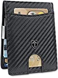 """TRAVANDO ® Slim Wallet with Money Clip""""Seattle"""" - 9 Card Slots - RFID"""