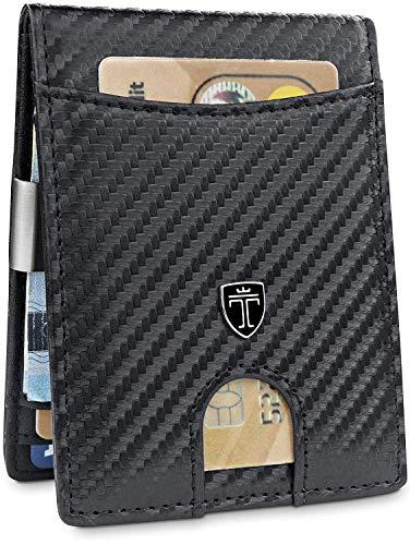 """25ee3d69482cc5 TRAVANDO Portafoglio uomo piccolo con protezione RFID """"SEATTLE"""" Porta carte  di credito con clip"""