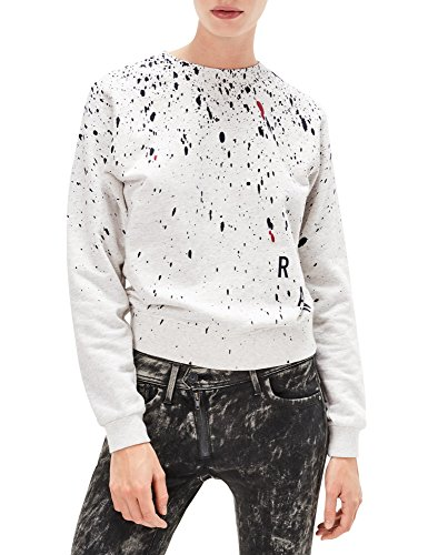 G-Star Women's Ustra Cropped Women's Sweater In Ivory With Drops off-white