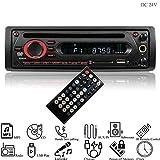 Hi-azul Autoradio, 1 Din In-Dash Car Stereo DC 12V/ 24V Car Radio AUX Audio Player CD Player Unterstützen In-car Karaoke, Bluetooth, FM, IR-Fernbedienung, USB/SD, MP3, CD Player (für 24V Fahrzeuge)