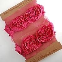 Neotrims Sculptured Crushed Chiffon Morbido Rose ritaglio