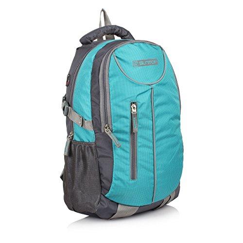 Suntop Polyester 26 Ltr Aqua Blue & Grey Laptop Backpack