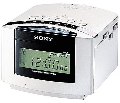 Sony ICF-C50RC Uhrenradio (mit Funkuhr) weiß