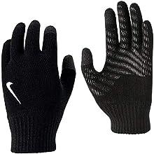 Nike Unisex Knitted Tech And Grip Guanti Per Bambini, Nero/Bianco, L XL