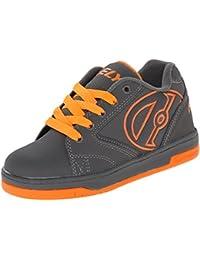 Heelys Propel 2.0 - Zapatos para Niño - Gris /Gris / Naranja - Gris/Gris/Naranja, UK 2 / EU 34