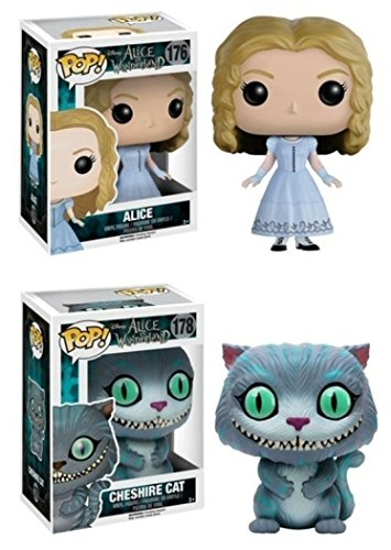 Funko POP! Alice In Wonderland: Alice & Cheshire Cat - Movie Vinyl Figures NEW