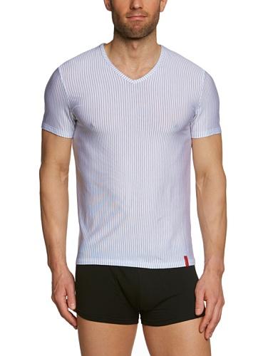 bruno banani Herren T-Shirt Regular Fit, Gestreift 2205-1063 1103 Mehrfarbig (1102 weiß/ schwarz Streifen)