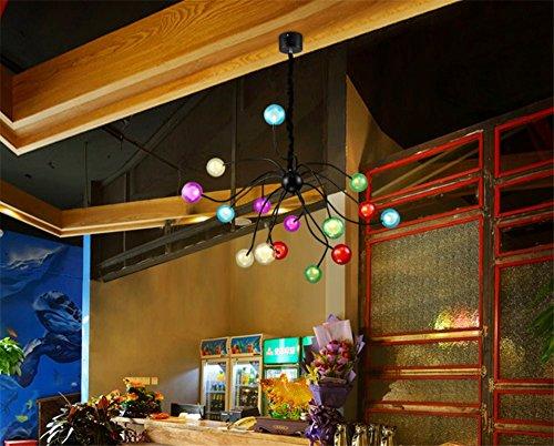 Moderne Pendelleuchte bunt 15 Glaskugeln Kronleuchter,Ø100cm - 9
