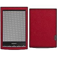atFoliX Sony PRS-T1 Reader Skin FX-Leather-Red Sticker Pegatina - Estructura de cuero fino