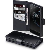 Xperia XA1 Case, Terrapin [ECHT LEDER] Brieftasche Case Hülle mit Standfunktion Kartenfächer und Bargeld für Sony Xperia XA1 Hülle Schwarz