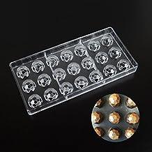 Molde para repostería de chocolate con forma de diamante, plástico transparente, policarbonato y policarbonato