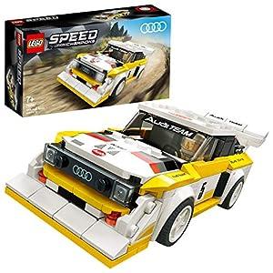 LEGO Speed Champions - 1985 Audi Sport quattro S1, Juego de Construcción de Coche de Carreras de Juguete, Incluye Minifigura del Conductor (76897)