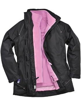 Portwest Elgin - Chaqueta 3 en 1 para mujer (talla S a 2XL), color negro