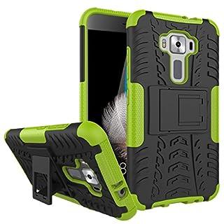 AIBULO® Asus Zenfone 3 ZE520KL Hülle TPU Case Schutzhülle Silikon Crystal Case für Asus Zenfone 3 ZE520KL (grün)