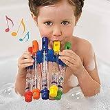 EisEyen Wasserflöten Whistles für Kinder Baby, Wasserpfeifen Badewanne Musik Spielzeug, Badespielzeug für Baby und Kleinkinder