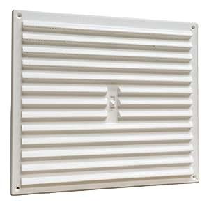 home smart grille persienne pour bouche d 39 a ration r glable en plastique blanc 23 x 23 cm. Black Bedroom Furniture Sets. Home Design Ideas