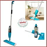 Siddhi Collection Microfiber and Aluminium Floor Cleaning Healthy Spray Mop with Removable Washable Cleaning-Pad and Integrated Water-Spray