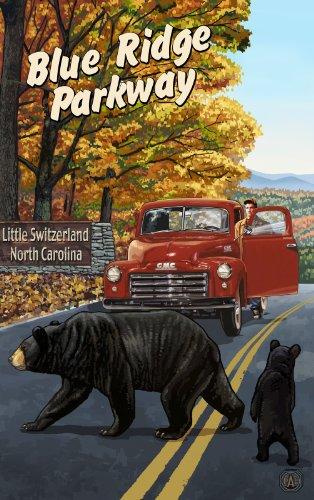Northwest Art Mall Little Schweiz Blue Ridge Parkway North Carolina Art Wand von Paul eine lanquist, 11von 43cm