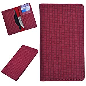 DCR Pu Leather case cover for iBall Andi5 Stallion (red)