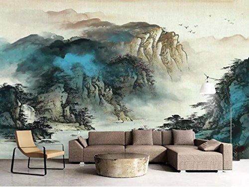 HHCYY 3D Tapete Majestätische Tinte Berglandschaft Hintergrund Wand Benutzerdefinierte Tapete Wandbild Fotowand-350cmx245cm