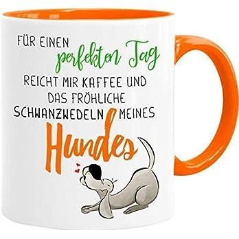 Cadouri Hunde-Tasse EIN PERFEKTER TAG┊Kaffeetasse Bürotasse mit Spruch┊tolle Geschenkidee für Hundeliebhaber