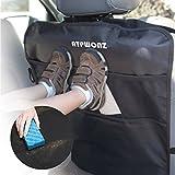 ATPWONZ Copri Sedili - Kick Mats 2-Pack con Multi-tasca Organizer, Copertine Posteriori per Auto,Bambino Borsa Seggiolino Auto Protezione Universale Ideale per Bambini Piccoli