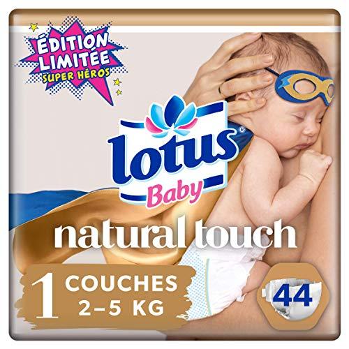 Lotus Baby Natural Touch – Couches Taille 1 (2-5 kg/Nouveau-Né) - x44 couches - Lot de 2 (88 couches)