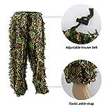 Zicac 3D Ghillie Tarnanzug Dschungel Ghillie Suit Woodland Camouflage Anzug Kleidung Für Jagd Verdeckt Festschmuck Test