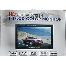 Pantalla LCD de 7 pulgadas, HD 1024x 600,TFT, HDMI–VGA–AV