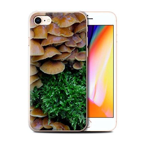 Stuff4 Hülle / Case für Apple iPhone 8 / Gras / Rasen Muster / Pflanzen/Blätter Kollektion Pilze