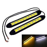#7: 2pcs 9 LED Flexible Universal Arrow COB Car Daytime Running Light DRL With Turn Ingicator Light