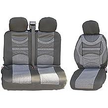 MASTER LUX S Sitzbezüge Schonbezüge 2+1 grau-schwarz für RENAULT TRAFIC