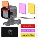 Objektivfilter-Set zum Tauchen für GoPro Hero 5 / Hero 4 Session Kamera - optimiert die Farben bei Aufnahmen von Videos und Fotos unter Wasser - leuchtende Farben, verbesserte Kontraste, Nachtsicht. (3 Filters (Rot / Magenta / Gelb), GoPro HERO 4 Session) -