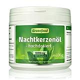 Greenfood Nachtkerzenöl, 1000 mg, hochdosiert, 240 Softgel-Kapseln – reich an Omega- und Omega 6 und natürlichem Vitamin E. OHNE künstliche Zusätze. Ohne Gentechnik.