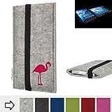 flat.design Handy Hülle Coimbra für Royole FlexPai Made in Germany Handytasche Filz Tasche Case fair Flamingo pink