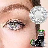 Farbige Jahres-Kontaktlinsen Schimmer Silber - MIT und OHNE Stärke Schimmer Silber - von Eyes4You® - ohne Stärke (+/- 0.00 DPT)