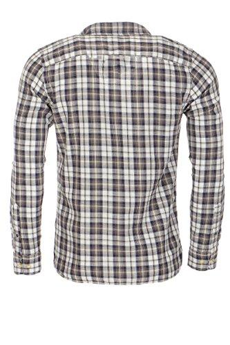JACK & JONES kariertes Herrenhemd JJVAMANCIO, in modernen Farben, aus 100% Baumwolle Mood Indigo (Fit:Slim)