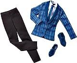 Barbie DHB38 - Ken Kleidung, Mode, Kleider Set, eleganter Anzug mit Hemd, Schlips und Schuhe, Model 2016