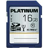 Platinum Carte mémoire SDHC UHS-I 300x Class 10 16 Go