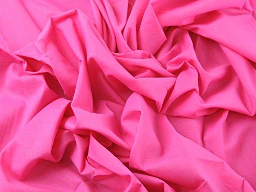 Baumwolle, uni Voile Kleid Stoff hell rosa–Meterware (Voile-kleid Rosa)
