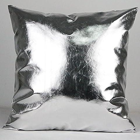Cojín moderno almohadilla de color metálico Almohada de sofá Cojín de coche Cojín de oficina Almohada lumbar de gama alta ( Color : E , Tamaño : 60*60cm )