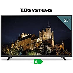 "TV Full HD TDSystems 55"" Pulgadas HD K55DLT6F (Resolución 1920x1080/HDMI 3/VGA 1/Eur 1/USB Reproductor y grabador) Televisor Full HD"