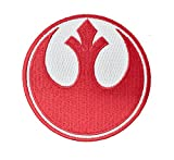 Super6props Star Wars Rebel Alliance Red Squadron Embroidered Iron on Patch Crew Uniform Patch for Cosplay, Costume and Fancy Dress 75mm x 75mm