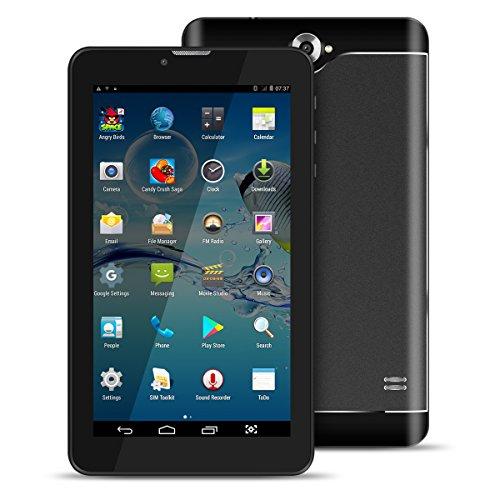 Kivors® Tablet 7 inch Zoll Android 4.4 Doppelsim Kartenschlitz-Doppelkamera Ultra dünner Tablette PC Viererkabel-Kern 8GB Speicher 512MB RAM WIFI Bluetooth 3.0 GPS